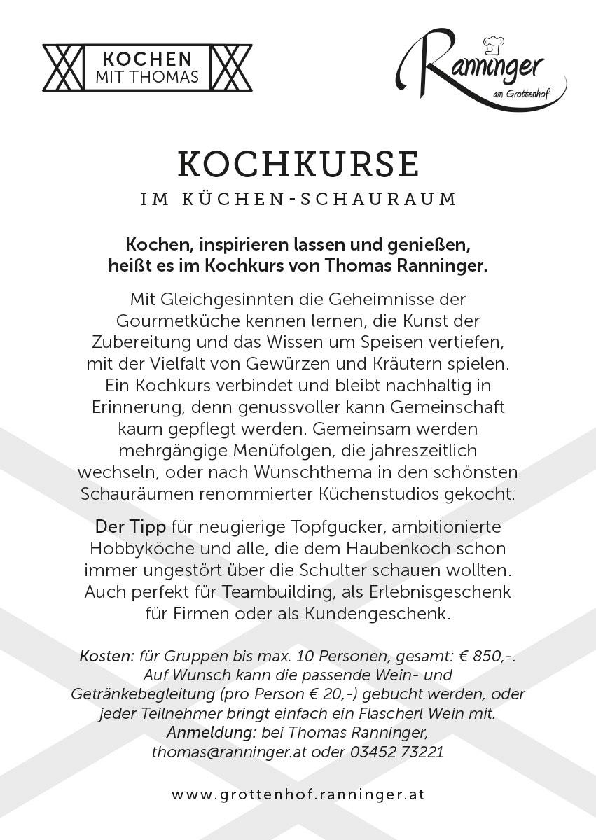 Kochkurs – Thomas Ranninger